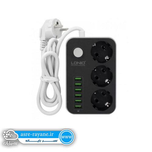 سه راهی برق و شارژر LDNIO SE3631 + ۶Port USB