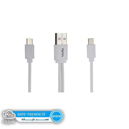 کابل تبدیل USB به microUSB و لایتنینگ تسکو مدل TC-A28