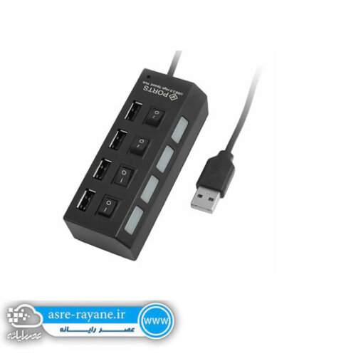 هاب 4 پورت USB 2.0 کلیددارHI-SPEED