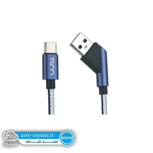 کابل تبدیل USB به USB-C تسکوTC C60 طول 1 متر